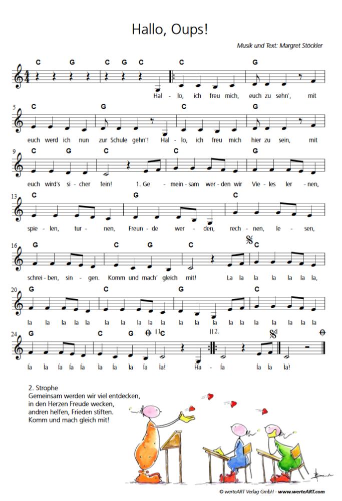 Lieder Zum Schulanfang Lieder Zur Einschulung Klasse 1