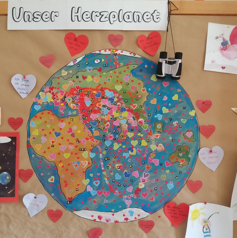 Unsere Erde wird ein Herzplanet…