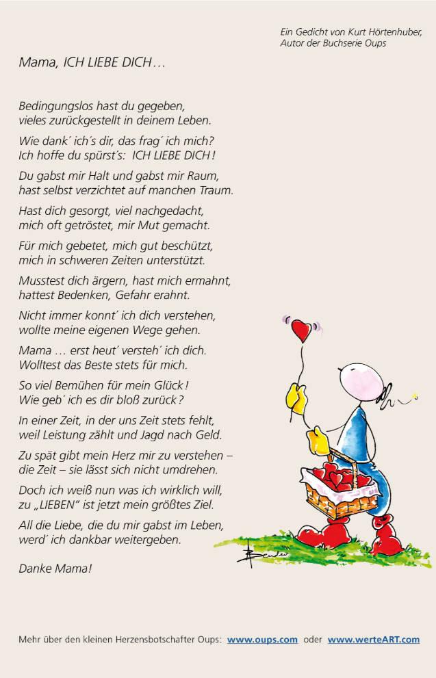 Oups Ein Berührendes Muttertagsgedicht Oups Online Shop