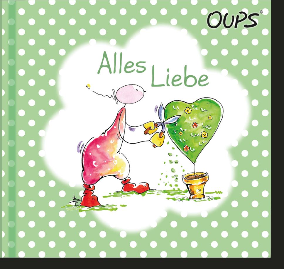 OUPS Minibuch Grün - Alles Liebe