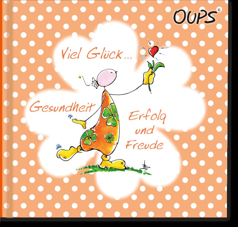 OUPS Minibuch orange - Viel Glück...