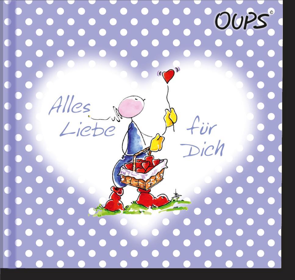 OUPS Minibuch Lila - Alles Liebe für Dich