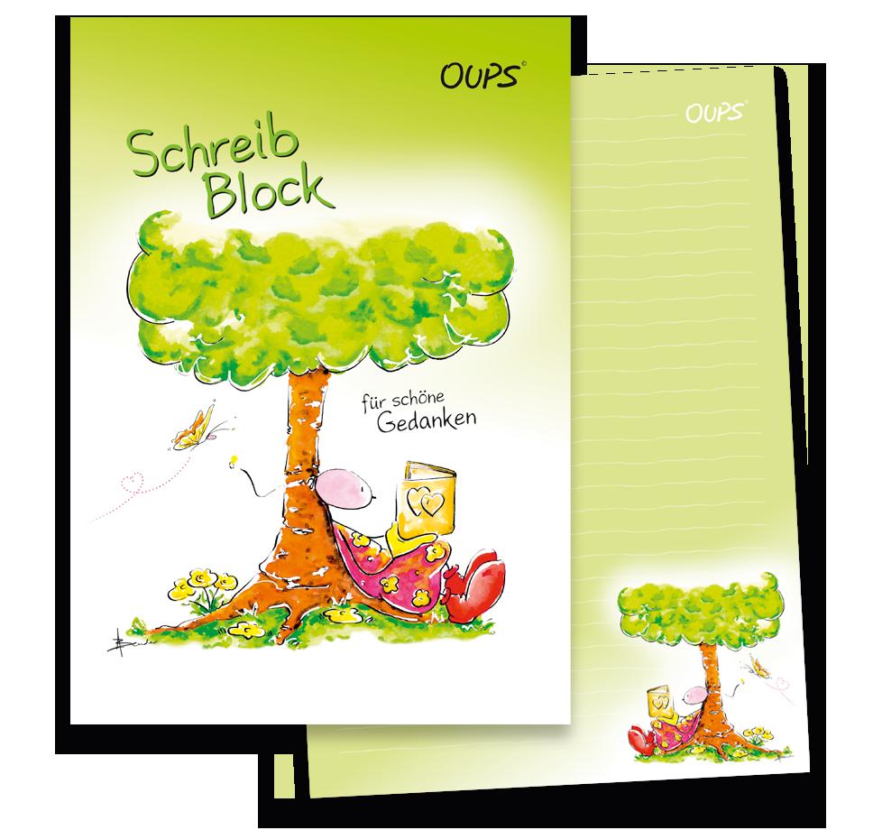 OUPS Schreibblock A4  liniert - für schöne Gedanken