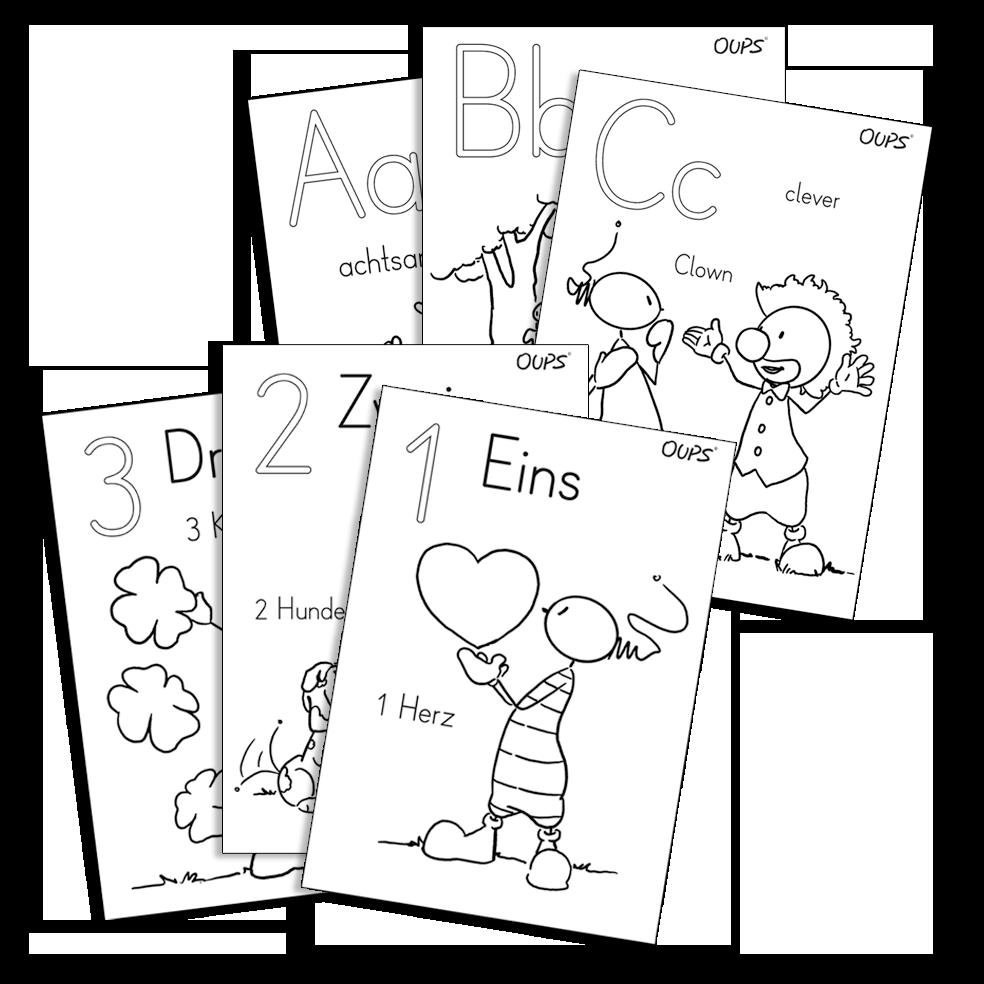 Oups - Malblätter Kindergarten ABC-123
