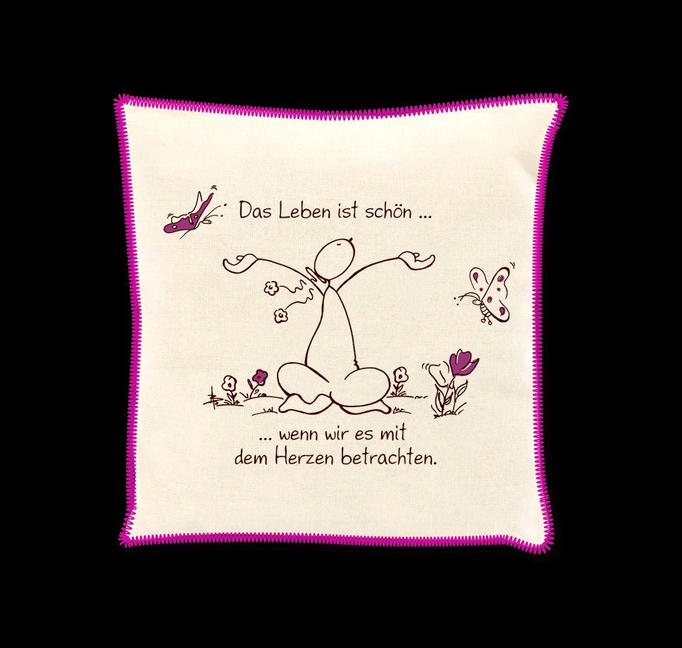 OUPS Duftkissen Natur Lila - Das Leben ist schön...wenn wir es mit dem Herzen betrachten.