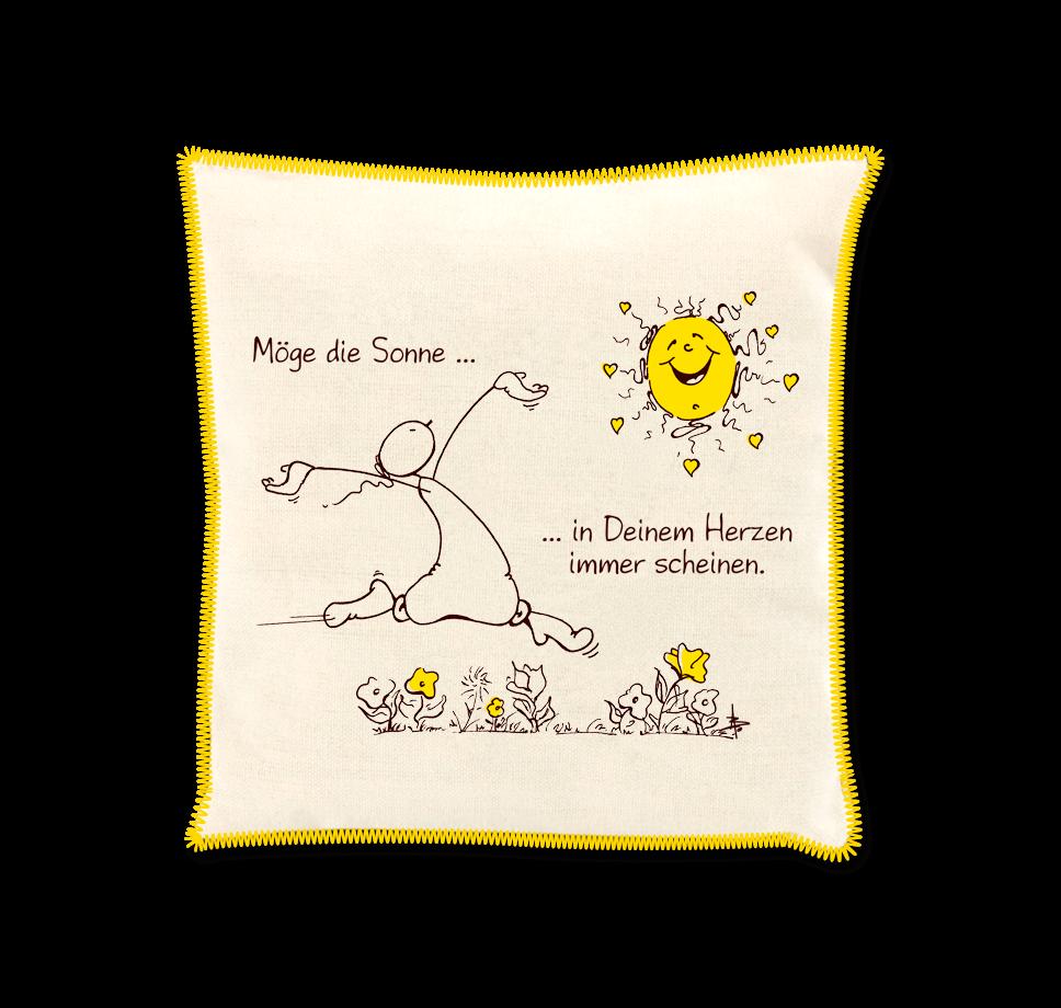 OUPS Duftkissen Natur Gelb - Möge die Sonne...in Deinem Herzen immer scheinen