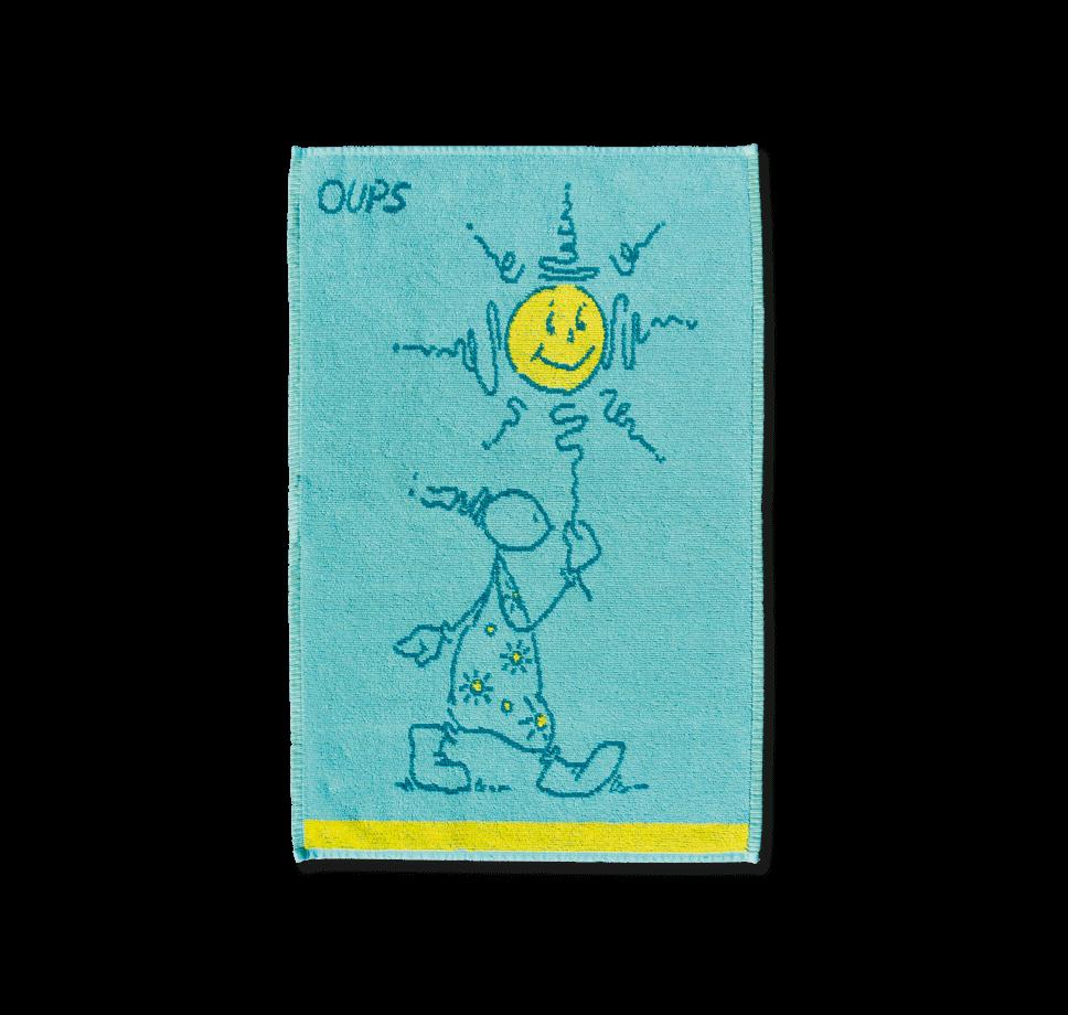 OUPS Handtuch - Sonne (blau/gelb) 50x70