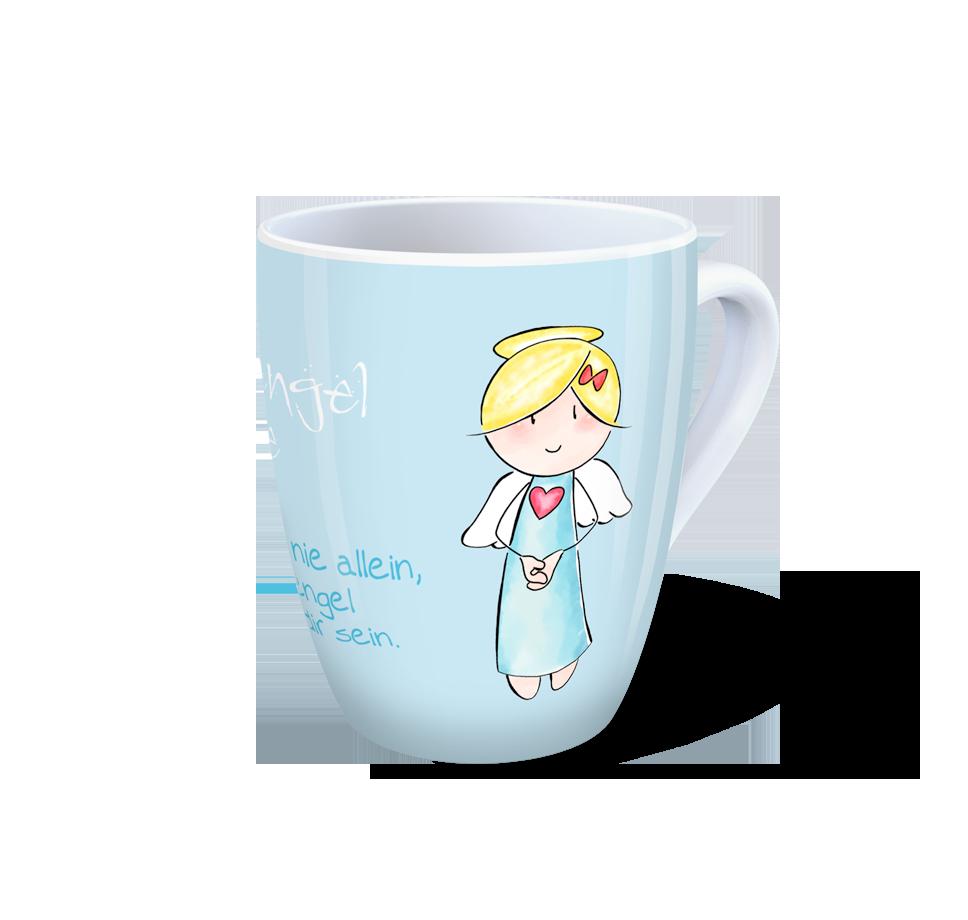 Engel Tasse - Schutzengel-Tasse - Glaub mir, du bist nie allein, dein ...
