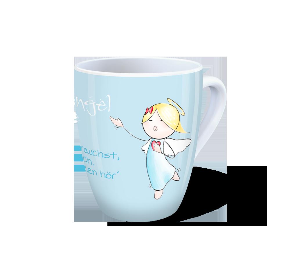 Engel Tasse - Schutzengel-Tasse - Wenn du mich brauchst, so rufe ...