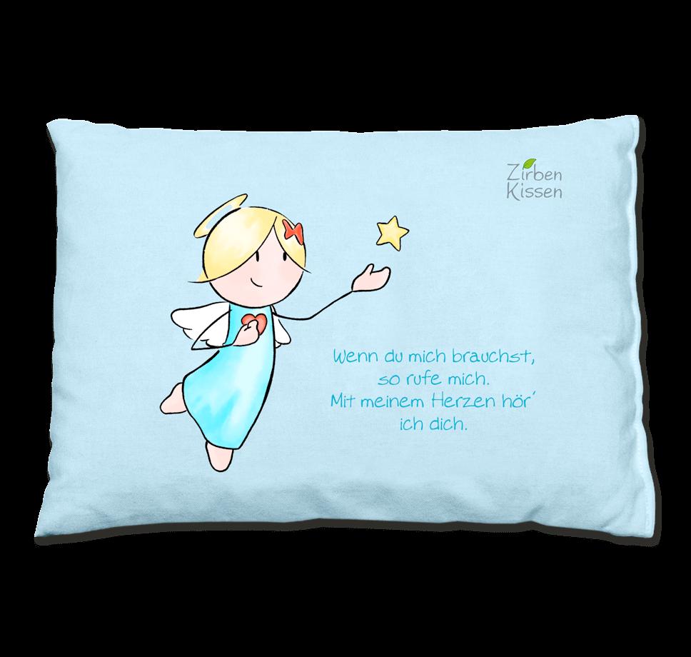 Engel Zirbenkissen - Wenn du mich brauchst, so rufe mich. Mit meinem Herzen hör ich dich.