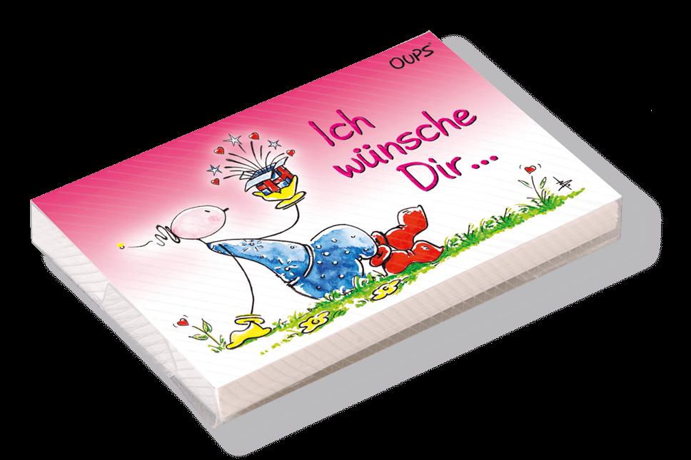 OUPS Kärtchenbox - Ich wünsche Dir...
