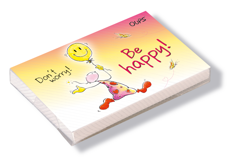 OUPS Kärtchenbox - Be happy!