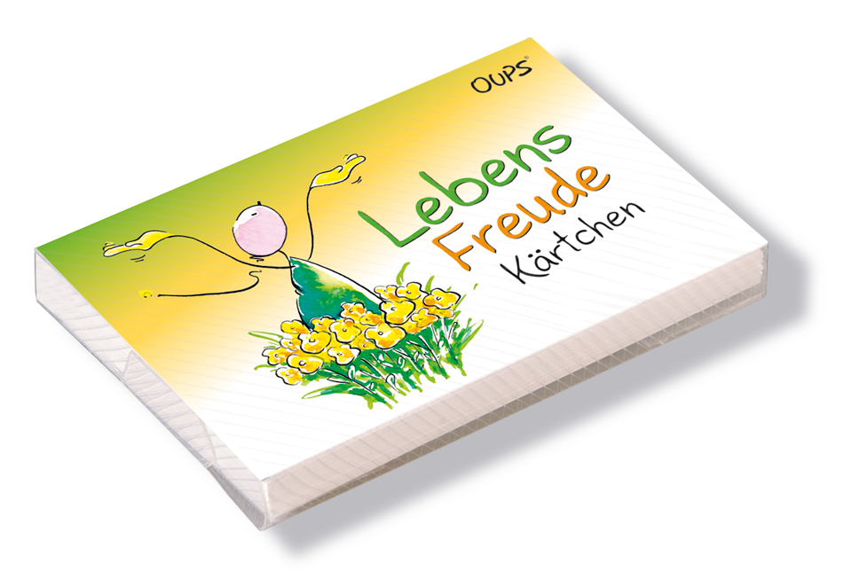 Oups Kärtchenbox - Lebensfreude Kärtchen