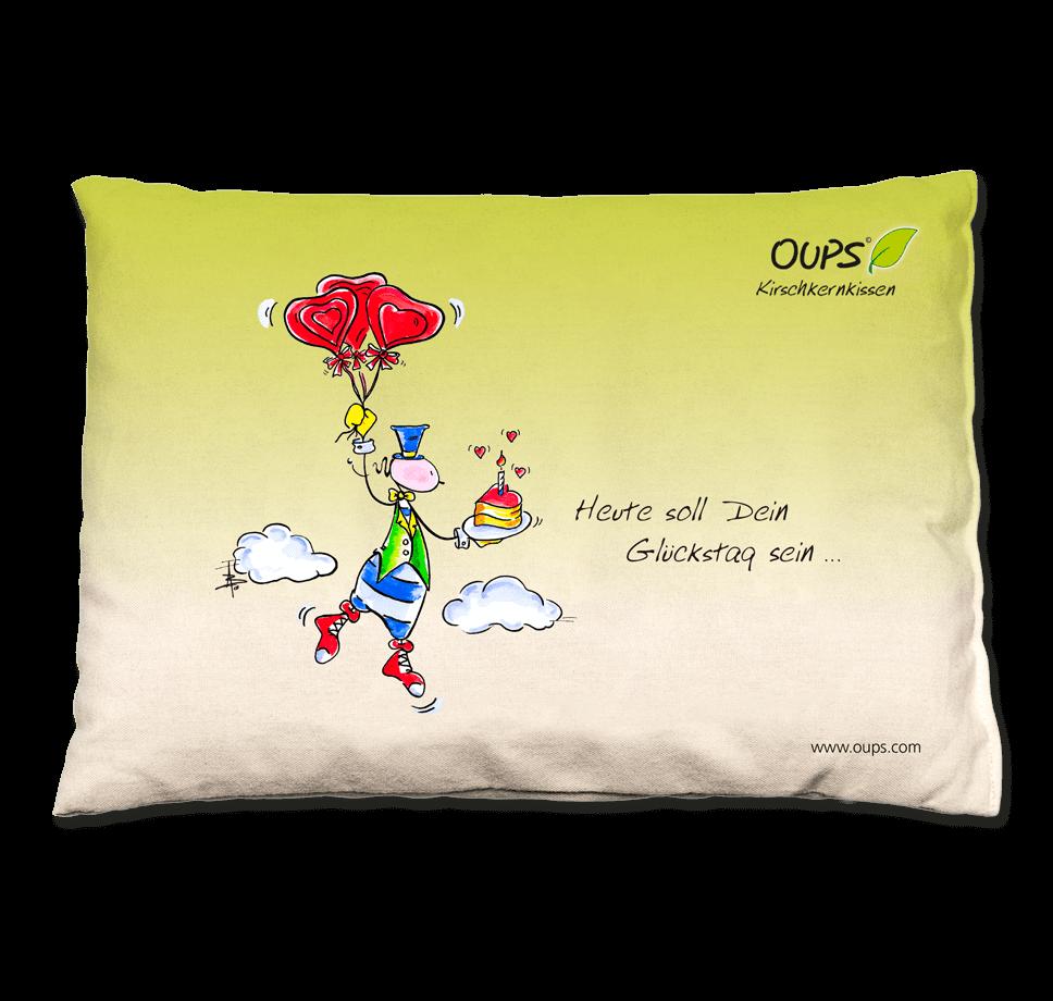 OUPS Kirschkernkissen grün - Heute soll Dein Glückstag sein...