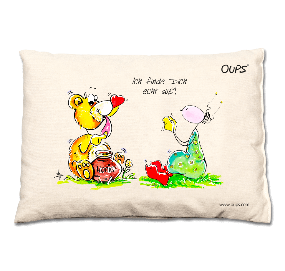 OUPS Traubenkernkissen - Ich finde Dich echt süß!
