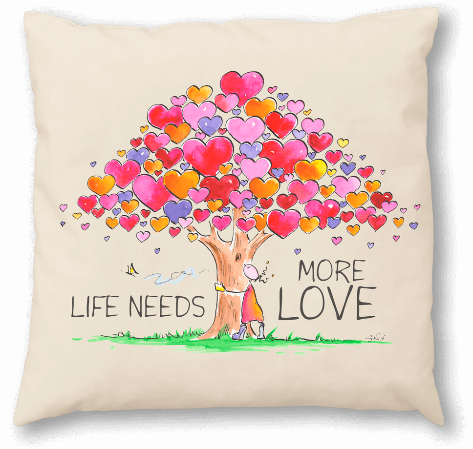 OUPS Zirbenkissen 30x30 - LIFE NEEDS MORE LOVE