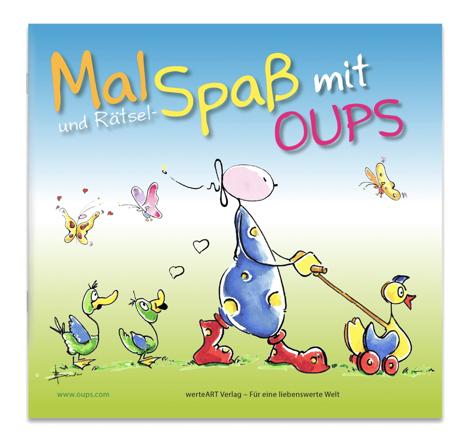 OUPS Malbuch - Mal- und Rätselspaß mit OUPS