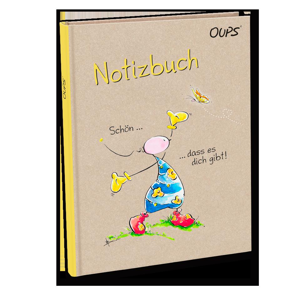 OUPS Notizbuch - Schön, dass es dich gibt!