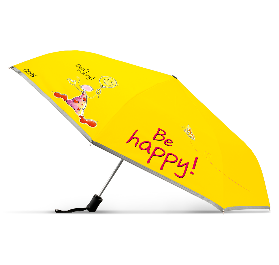OUPS Regenschirm - Don´t worry! Be happy!