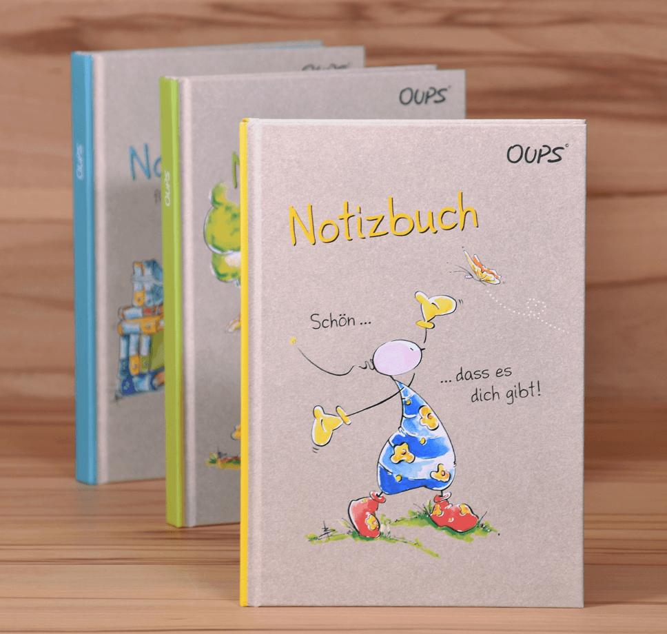 OUPS Notizbücher - 3er Set