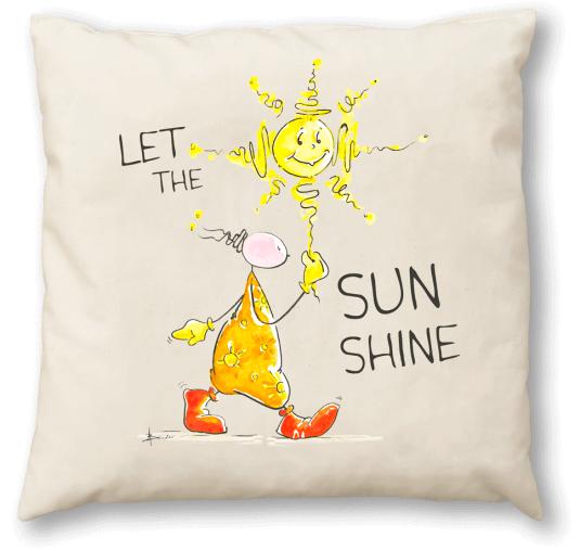 OUPS Schafwollkissen 40x40 - Let The Sun Shine