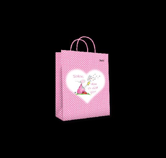 OUPS Geschenktasche klein Rosa - Schön, dass es dich gibt
