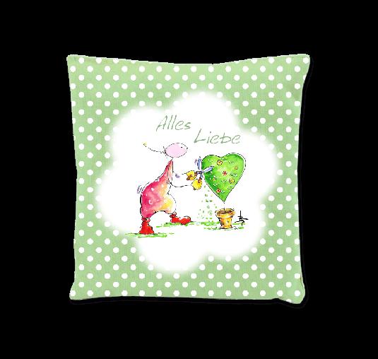 OUPS Duftkissen Grün - Alles Liebe