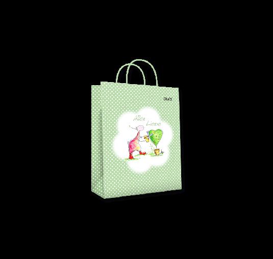 OUPS Geschenktasche klein Grün - Alles Liebe