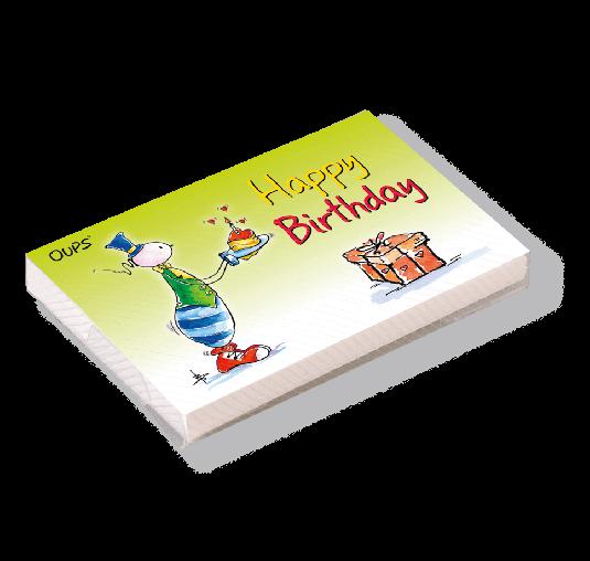 OUPS Kärtchenbox - Happy Birthday