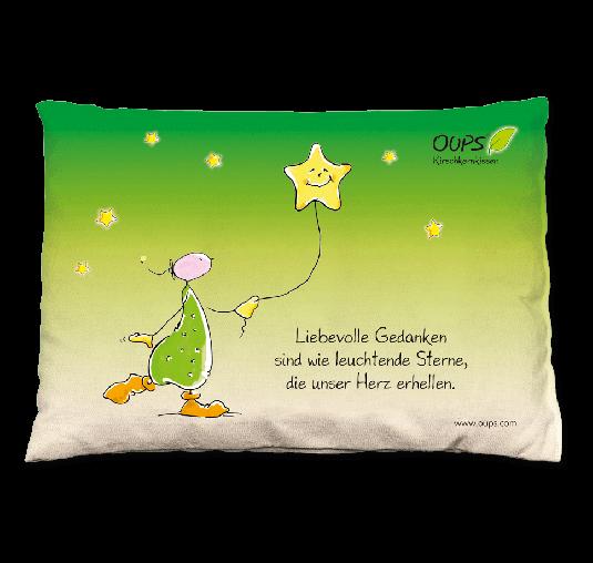 Oups Kirschkernkissen - Liebevolle Gedanken sind wie leuchtende Sterne, die unser Herz erhellen.