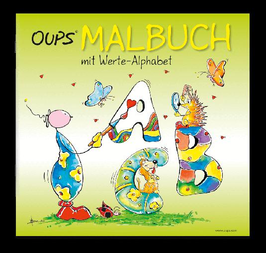 OUPS Malbuch - Werte-Alphabet
