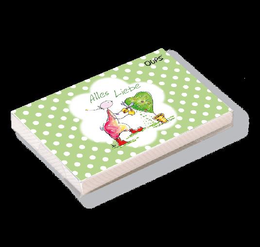 OUPS Kärtchenbox Grün - Alles Liebe