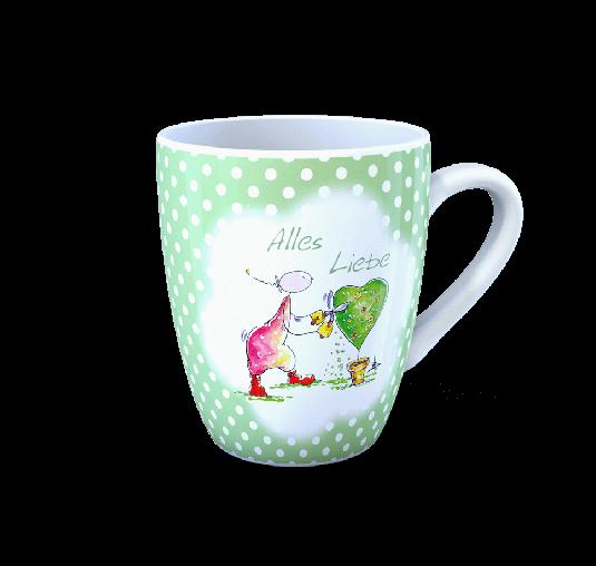 OUPS Tasse Grün - Alles Liebe