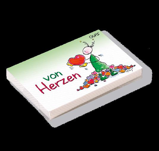 OUPS Kärtchenbox - Von Herzen