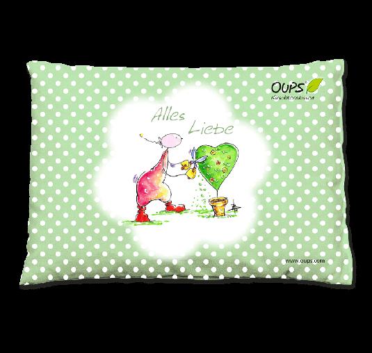 OUPS Kirschkernkissen Grün - Alles Liebe